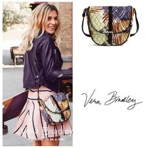 Vera Bradley Slim Saddle Crossbody-Painted Feather